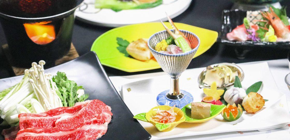 山形牛ご夕食 ステーキ&すき焼きプラン